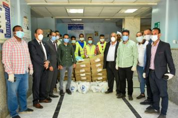 Video and photos .. The future of Watan Qena supports the medical hospital crews with 3 thousand pieces of important medical supplies to combat Corona